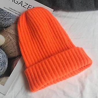 New Candy Colors Winter Hat Women Knitted Warm Soft Trendy Style Wool Beanie