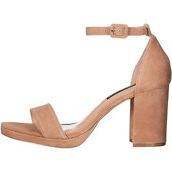 Steven by Steve Madden Women's Shoes Vino platform Calf Hair Open Toe Casual Ankle Strap Sandals