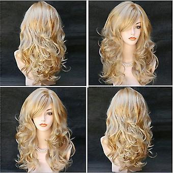 المرأة شعر مستعار أنثى شعر متعدد الألوان الشعر الطويل طويل الشعر مجعد الشعر الاصطناعية