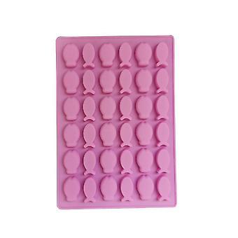 Pink TRP Candy & Csokoládé formák Hal alakú penész konyhai eszközök gyerekeknek