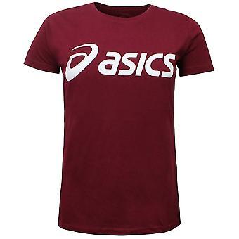 Asics Womens T-shirt الرياضة شعار تي التدريب الأعلى بورجوندي 144017 2015