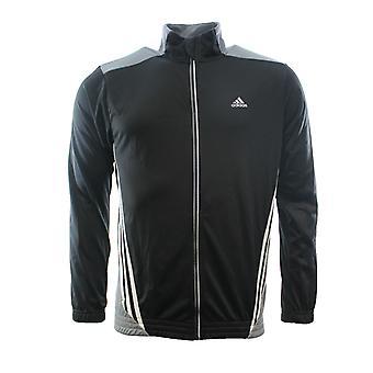 Adidas Mens Essentials 3S Climalite Tam Zip Parça Üst Siyah Beyaz F48866 RW79