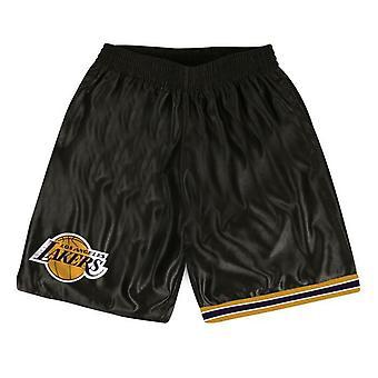 Mitchell & Ness Mens LA Lakers Dazzle Shorts Satin Sports Pants SHORDF18016 LAL