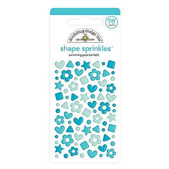 Doodlebug Design Swimming Pool Confetti Shape Sprinkles