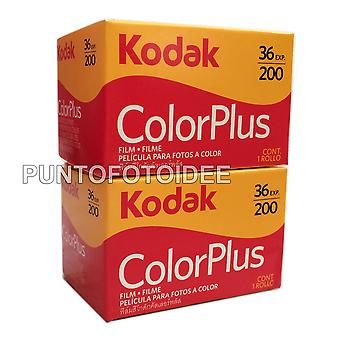 2 Rolls kodak color plus 35 mm 200/36 – pack of 2. film, photography