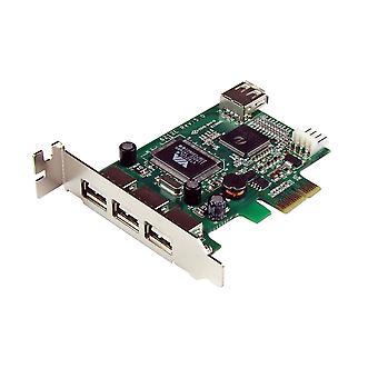 Startech.com 4 port pci express low profile high speed usb card - pcie usb 2.0 card - pci-e usb 2.0
