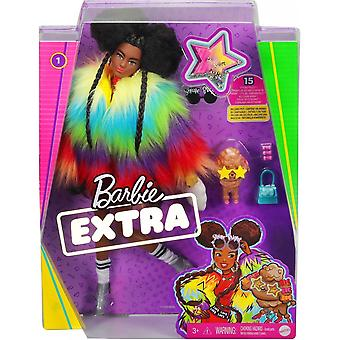 Barbie Rainbow Coat Extra Doll