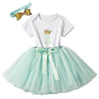 Lovely Girls Romper Skirt + Headband Outfit , Design 9