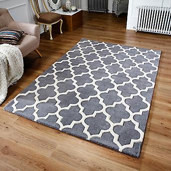 Arabesque-Teppich In grau