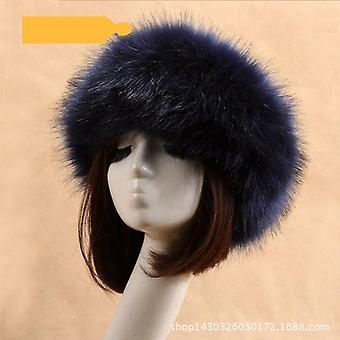 الشتاء سميكة فروي شريط الشعر رقيق الروسية فو الفراء قبعة الرأس في الهواء الطلق