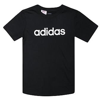 Boy's adidas Infant Linear T-Shirt en noir
