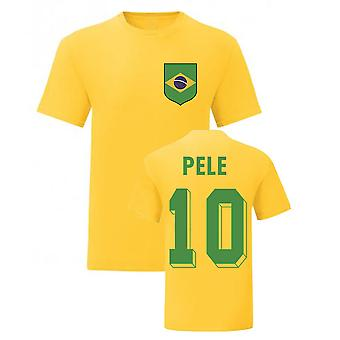 Pele Brazil National Hero Tee\'s (Yellow)