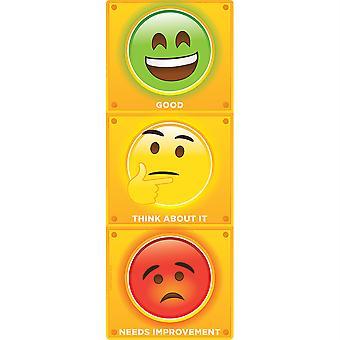 "Smart Poly Clip Chart W/Grommet, 9"" X 24"", Stop Light Personal Behavior"
