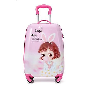 Hot New Kids Travel Suitcase, Spinner Wheels Rolling Luggage Carry