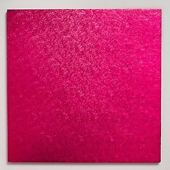 14&; (355mm) Cake Board Square Cerise - pojedynczy