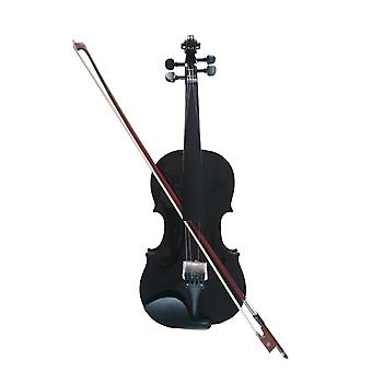 Student Acoustic Violin Full 1/8maple Spruce With Case Bow Rosin Black Color