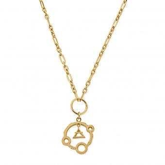 ChloBo Sterling Silver Gold Plated Air Pendant Necklace GN3159
