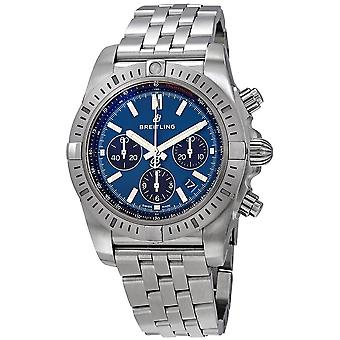 Breitling Chronomat Chronograph Automatic Blue Dial Men's Watch AB0115101C1A1