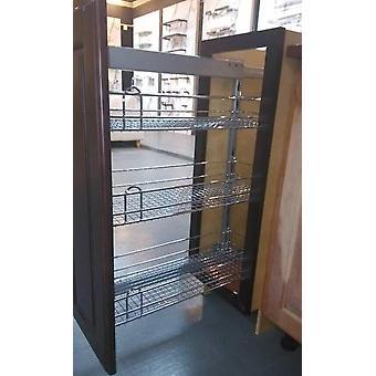 Dreilagige Seitenkorb mit High Floor Schrank Dämpfung und schmalen Schrank