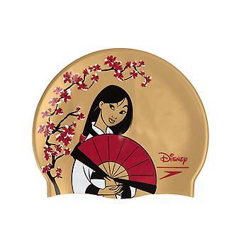 Speedo Disney Mulan Junior Slogan Tulosta Uimalakki Kulta/Punainen