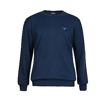 Navy & Green Men's Knitted With Neck