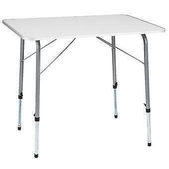 tectake Campingbord höjdställbart 80x60x68 cm