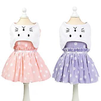 夏のペット服猫のスカート