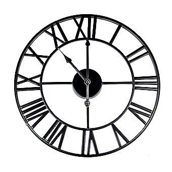 Romertall vegg klokke svart | M&W
