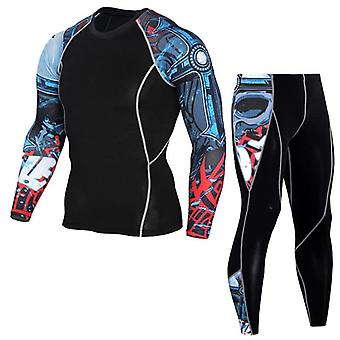 Layer Compression Tights Jogging Suit Men's Gym