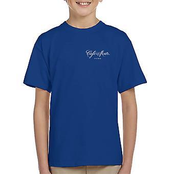 Cafe del Mar Classic White Logo Pocket Print Kid's T-Shirt