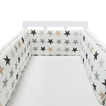 Print Baby Bed Bumper Double-faced Detachable Newborn Crib Around Cot Protector