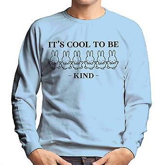 Miffy dess coola att vara snäll män & s sweatshirt