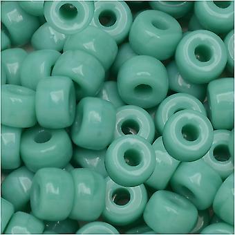 Matubo de verre tchèque, perle de graine 2/0, tube de 20 grammes, vert turquoise opaque