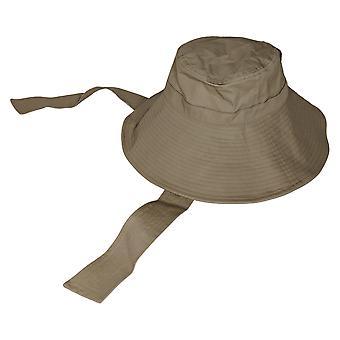 San Diego Hat Co. Canvas met stropdas & UPF 50 beige hoed A376745