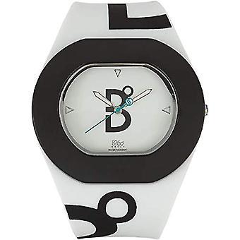 B360 WATCH Unisex Wristwatch B COOL White and Black Medium, 3 bars silicone quartz 1070074
