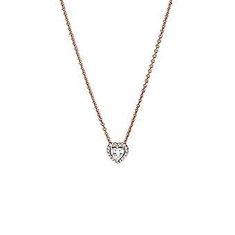 Pandora - Kaulakoru sydämen muotoinen riipus, 14 karat ruusu kullattu metalliseos, 45 cm pitkä