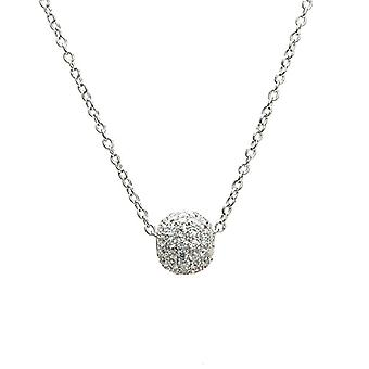 Eye Candy, women's necklace, ECJ-NL0089, with circular pendant, in sterling 925 silver, with 66 white zircons, length: 45 Ref. 4045425027917