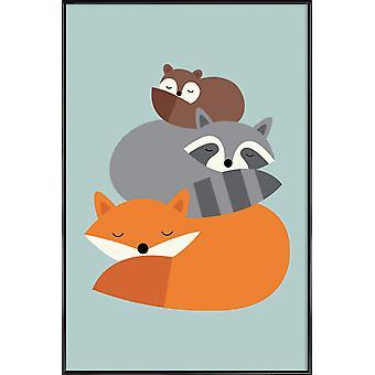IMPRESSION JUNIQE - Dream Together - Affiche de la faune en couleur