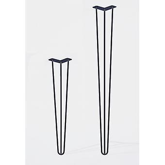 Set 3-punt hairpin tafelpoten meubelpoten (4 stuks) 71 cm Metal (blanke coating)