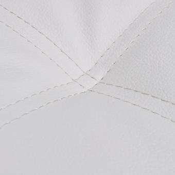 vidaXL chaises avec oreillers en simili-faux blanc