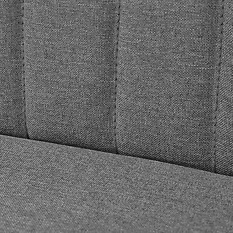 vidaXL Sofá Tela 117 x 55,5 x 77 cm Gris Claro