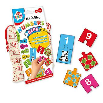 Kids Create Matching Numbers Game Puzzle Ages 3+