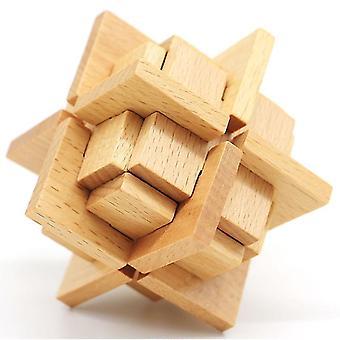 Iq Gehirn Teaser kongming Holz Puzzle Spielzeug dt7580