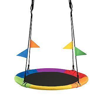 Φωλιά swing 100 cm Ουράνιο Τόξο με σημαίες - Φωλιά πελαργό