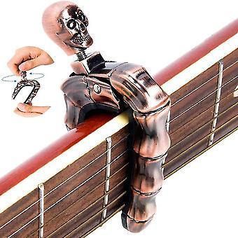 Ghost skull finger guitar capo clamp for guitar, bass, ukulele cai445