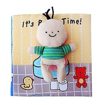 Montessori Zipper Soft 3d Cloth Book
