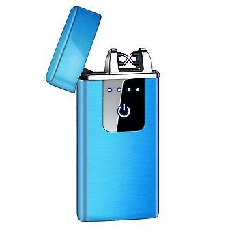 חדש hb-021-כחול סאטן אופנה כפולה קשת אלקטרונית מגע חכם קל USB אינדוקציה נטענת sm41902