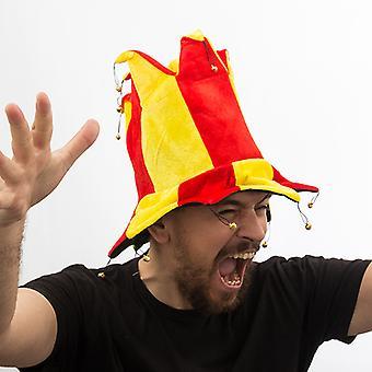 Spansk flagg jester hatt med 14 klockor