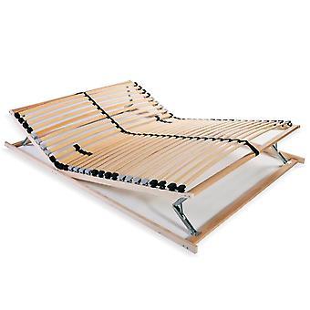 vidaXL slatted frame with 28 slats 7 zones 100 x 200 cm