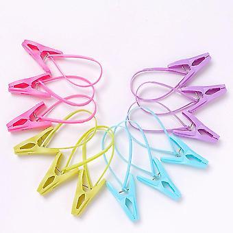 Vêtements en plastique multicolores Chevilles de lessive, Clips multifonctionnels étanches au vent